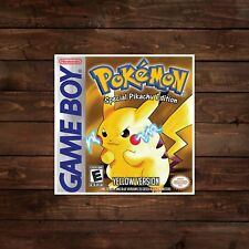 Pokemon Yellow Game Boy Cover Decal/Sticker