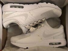 Men NIKE Air Max QS Running Shoes White/ Platinum 9.5 NEW