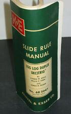 K+E Keuffle & Esser Slide Rule Manual Log Log Duplex Decitrig 68-2047/4187S BENT