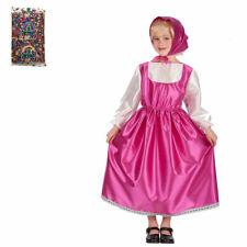 Carnival Toys Set Costume Masha e Busta Coriandoli Vestito Carnevale Bambina