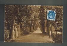 1909 Jersey Channel Islands England Rppc Postcard Cover Vinchlez Lane View
