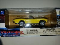 1967 Corvette 1/43 Yellow New Ray City Cruiser Collection Die Cast New in box!