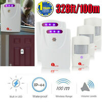 Wireless Alarm Alert Driveway Patrol Security System Motion Sensor Long Range