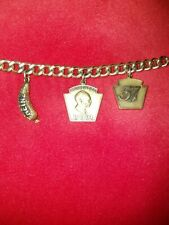 15 Yrs Svc Award 10K Gold Charm Bracelet Heinz Co. 30.2 grams.  For collectors.