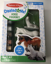 Melissa & Doug Creatd By Me Horse Figurines Craft Kit New In Sealed Box