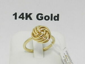 Italian Gold Love Knot Ring in 14k Gold, 7
