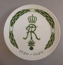 Meissen Teller Wandteller Jubiläum König Friedrich August Rex Sachsen 1620-1920