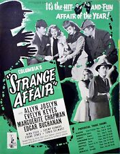 STRANGE AFFAIR 1944 Evelyn Keyes, Allyn Joslyn, Marguerite Chapman TRADE ADVERT