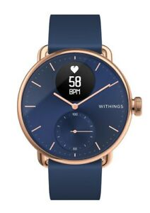 Withings ScanWatch Hybrid Smartwatch ECG Heart Rate & Oximeter 38mm Rose Gold
