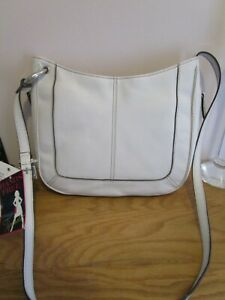 Tignanello  white leather shoulder bag ,, new  with tags