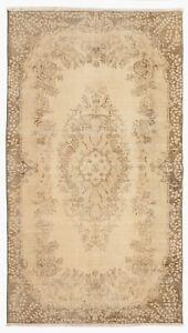3.9x6.8 Ft Vintage Handmade Central Anatolian Rug