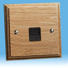 Varilight 1-Gang Telephone Master Plug Socket Limed Oak XKTMLOB