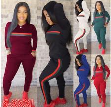Women's Athletic Casual 2 Piece Tracksuit Pants Hoodie Sweatshirt Sex Sport Set