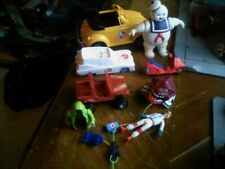 vintage 1980's ghostbusters kenner mask lot ambulance stay puft marshmallow