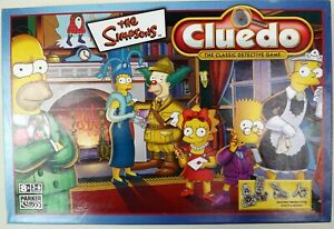 The Simpsons Cluedo - 2001 - Hasbro - 100% Complete and in Excellent Condition