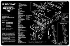 BERETTA 92 M9 9mm SELF LOADING PISTOL GUNSMITH DISASSEMBLY & CLEANING TEKMAT