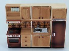 Lundby CONTINENTAL Marrone Da Cucina Casa delle Bambole arredamento vintage cucina frigo ecc.