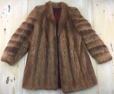 MINK FUR COAT - Vtg 50s-60s Brown Clasp Closure, Fits Womens MEDIUM - SO SOFT!