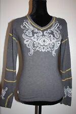 Athleta T-shirt Women's Baseball long sleeve semi sheer logo size Xxs w/thumbies