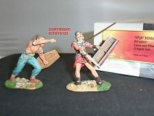 CONTE SPQR017 ROMAN EMPIRE LEGIONAIRE + BARBARIAN METAL TOY SOLDIER FIGURE SET