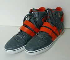 VLADO KNIGHT 2 Gray Orange Leather Hightop Sneakers Athletic Shoes Mens 13