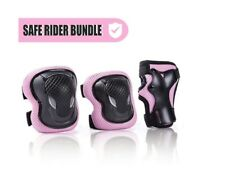 LARGE Pink Protective Gear Set Including Knee Pads Elbow Pads and Wrist Guards
