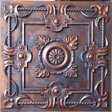 Ceiling tiles faux tin aged red copper bar saloon decor panels 10tile/lot PL29