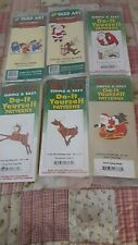 Lot of 6~ Vintage Christmas~Yard Art Woodworking Patterns