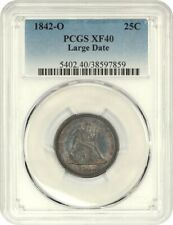 1842-O 25c PCGS XF40 (Large Date) Liberty Seated Quarter