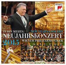 ZUBIN/WIENER PHILHARMONIKER MEHTA - NEUFJAHRSKONZERT 2015 2 CD NEUF