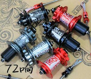 KOOZER XM490 MTB road Bike Hubs 32H 4 Bearing disc brake Hub Front Rear w qr set