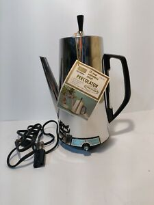 Vintage Sears 12 Cup Percolator Stainless Steel #663.6797  NOS?