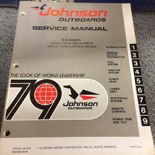 1979 JOHNSON SERVICE MANUAL V6 MODELS  Free Shipping