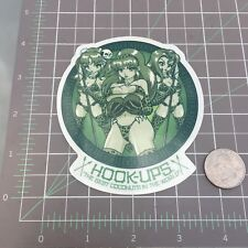 2003 Vintage Hook-Ups Skateboard Sticker Coconut Jungle Headhunter