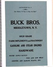 1909  Buck Bros.Farm Equipment Catalogue No.9 High Grade Implements & Machinery