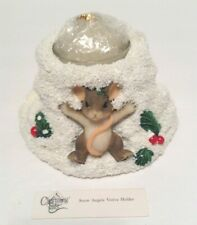 Charming Tails Snow Angels Votive Holder Mouse 93/482 Fitz & Floyd New In Box