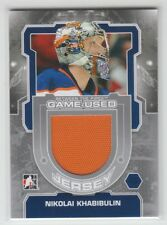 (67742) NIKOLAI KHABIBULIN 2012-13 BETWEEN THE PIPES JERSEY SILVER #M36 (1of140)