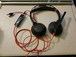 Plantronics Poly Blackwire 5200 Series C5200 USB Wired Headset Soft Case