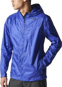 adidas Mens Running Jacket Purple Lightweight Packable Windbreaker XS XL