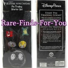 Disney Park Nightmare Before Christmas Jack Sally Lanyard 4-Pin Booster Pack Set