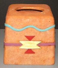 Southwest Design Tissue Box Cover New Mexico Pueblo Adobe look