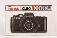 Bedienungsanleitung Pentax Asahi auto 110 auto100 auto-100 System Anleitung