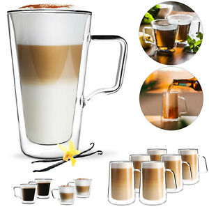 Latte Macchiato Gläser SET Thermogläser DOPPELWANDIG Cappuccino Tassen HENKEL