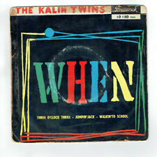 "The KALIN TWINS Disque Vinyle 45T 45 tours EP 7"" WHEN - BRUNSWICK 10150 RARE"