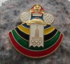 1980 Moscow Soviet Union Olympic Games Russian Traditional Costume Pin Badge