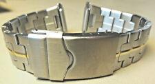 Nuovo Uomo Timex Acciaio Inox 16-22 MM Orologio Fascia Sicurezza Trifold Fibbia