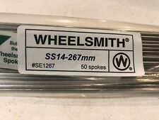 Wheelsmith SS-14-267mm Spokes  Silver Bag of 50