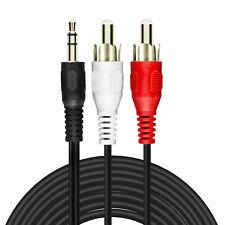 Câble Audio Jack 3.5mm Mâle Vers 2x RCA Mâles 5m Son de Qualité LinQ Noir