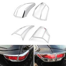 ABS Chrome Rear Tail Light Lamp Frame Cover Trim 4pcs For Toyota Highlander 2015