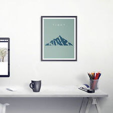 Tibet Mount Everest Travel Poster Minimalistic Original